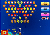 Bubble shooter avec des fruits