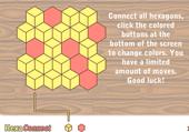 Hexagones de la même couleur