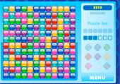 Lignes de carrés de couleur