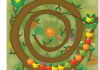 Jeu de zuma: spirale de fruits